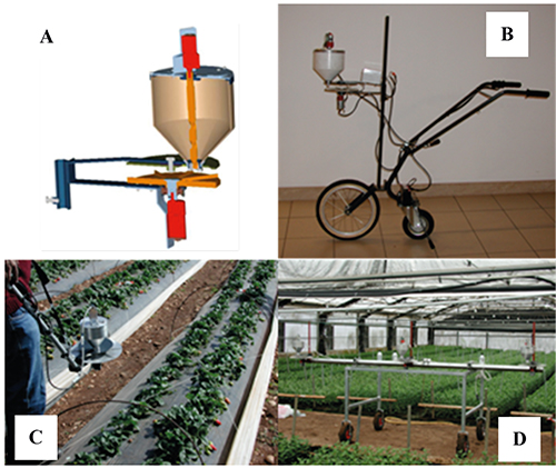 Mechanical distribution of beneficial arthropods in greenhouse and